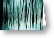 Tree Lines Greeting Cards - Follow the Light Greeting Card by Gert Lavsen