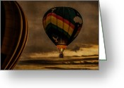 Hot Air Balloon Photo Greeting Cards - Following Amazing Grace Greeting Card by Bob Orsillo