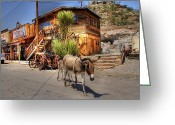 Oatman Greeting Cards - Following the Leader Greeting Card by Geri Linda Metterle