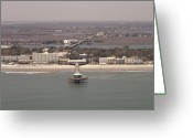 South Carolina Beach Greeting Cards - Folly Beach South Carolina Greeting Card by Dustin K Ryan
