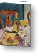 Cocktails Pastels Greeting Cards - Fondue a la Mexicana Greeting Card by Jim Barber Hove