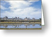 Kodachrome Greeting Cards - Fontainebleau Palace  Greeting Card by Chuck Staley