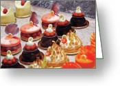 Confections Greeting Cards - Food - Cake - Le Dessert Greeting Card by Mike Savad