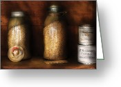 Oatmeal Greeting Cards - Food - Corn Yams and Oatmeal Greeting Card by Mike Savad