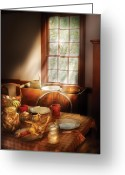 Sunday Greeting Cards - Food - Sunday Brunch Greeting Card by Mike Savad