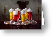 Whipped Topping Greeting Cards - Food - Sweet - Lets parfait all night  Greeting Card by Mike Savad