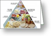 Yoghurt Greeting Cards - Food Pyramid Greeting Card by David Munns