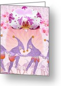 Moth Orchids Greeting Cards - Fools in Love Greeting Card by Yolanda Fundora