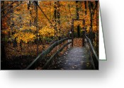 Foot Bridge Greeting Cards - Foot Bridge Greeting Card by Scott Hovind