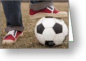 Soccer Sport Greeting Cards - Football Aka Soccer  Greeting Card by Igor Kislev