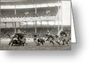 Polo Grounds Greeting Cards - Football Game, 1916 Greeting Card by Granger