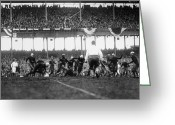Polo Grounds Greeting Cards - Football Game, 1925 Greeting Card by Granger