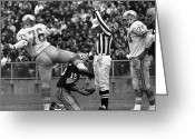 Athlete Greeting Cards - Football Game, 1965 Greeting Card by Granger