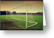Grass Greeting Cards - Football Goal Greeting Card by Federico Scotto