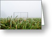 Soccer Greeting Cards - Football Goal Greeting Card by Ulrich Mueller