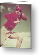 20-24 Years Greeting Cards - Football Player, 1950s Greeting Card by Archive Holdings Inc.