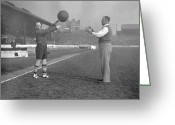 Referee Greeting Cards - Football Referee Greeting Card by H F Davis