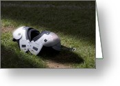 Football Photo Greeting Cards - Football Shoulder Pads Greeting Card by Tom Mc Nemar