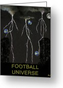 Greek Sculpture Greeting Cards - Football Universe Greeting Card by Eric Kempson
