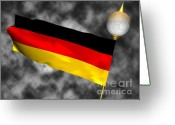 German Football Greeting Cards - Football World Cup Cheer Series - Germany Greeting Card by Ganesh Barad
