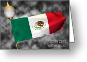 Symbols Greeting Cards - Football World Cup Cheer Series - Mexico Greeting Card by Ganesh Barad