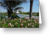 Boca Grande Prints Greeting Cards - Footbridge Greeting Card by Geralyn Palmer