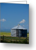 Alberta Foothills Landscape Greeting Cards - Foothills Farm Greeting Card by Edward Kovalsky