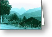The Start Greeting Cards - Foothills of the Alps Greeting Card by Fred Jinkins