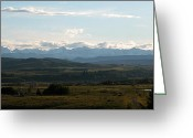 Alberta Foothills Landscape Greeting Cards - Foothills panorama Greeting Card by Stuart Turnbull