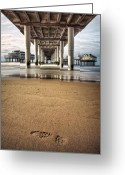 Dave Greeting Cards - Footprints in the Sand Greeting Card by David Bowman