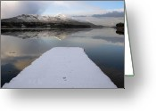 Walls Framed Prints Prints Greeting Cards - Footprints Greeting Card by Paul  Mealey