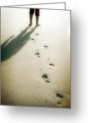 Footprint Greeting Cards - Footsteps Greeting Card by Joana Kruse