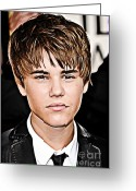 Star Mixed Media Greeting Cards - For the Belieber in You Greeting Card by The DigArtisT