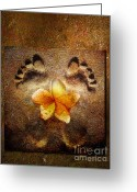 Orange Greeting Cards - For the love of Me Greeting Card by Photodream Art