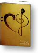 Music Notes Greeting Cards - For the love of music Greeting Card by Misty Dempsey