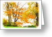 Seasons Greeting Cards - For The Love of October Greeting Card by Bob Orsillo