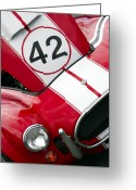 Race Car Photo Greeting Cards - For the Love of Shelby Greeting Card by David  Hubbs