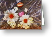 Shell Texture Greeting Cards - For The Love Of Summer And Life Greeting Card by Pepita Selles