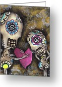 Skull Painting Greeting Cards - For You Greeting Card by  Abril Andrade Griffith
