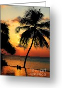 Valentine Greeting Cards - For YOU. Dream Comes True. Maldives Greeting Card by Jenny Rainbow