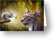 Big Cat Greeting Cards - For You Greeting Card by Julie L Hoddinott