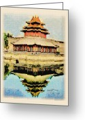 Forbidden City Greeting Cards - Forbidden City Greeting Card by Anthony Caruso