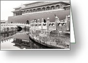 Forbidden City Greeting Cards - Forbidden city Greeting Card by Anthony Silver