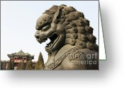 Forbidden City Greeting Cards - Forbidden City  Greeting Card by Oren Shalev