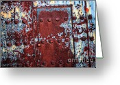 Old Doors Greeting Cards - Forbidden Door  Greeting Card by Carol Groenen