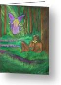 Magic Pastels Greeting Cards - Forbidden Pleasures Greeting Card by Diana Haronis