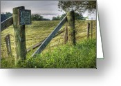 Fence Row Greeting Cards - Forbidden View Greeting Card by Pete Hellmann