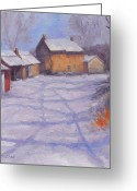 Carversville Greeting Cards - Forbornik Homestead Bucks County Greeting Card by Kit Dalton