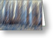 Abstract Impressionism Photo Greeting Cards - Forced March Greeting Card by Bill Morgenstern