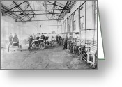 1905 Greeting Cards - Ford Auto Factory Greeting Card by Granger